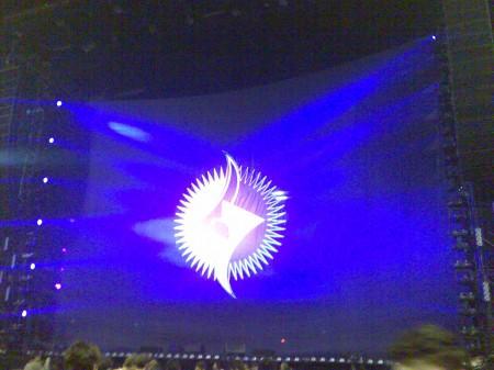il palco ancora coperto